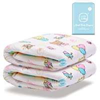 Littleforbig Printed Adult Brief Diapers Adult Baby Diaper Lover ABDL 2 Pieces - Baby Cuties(L)