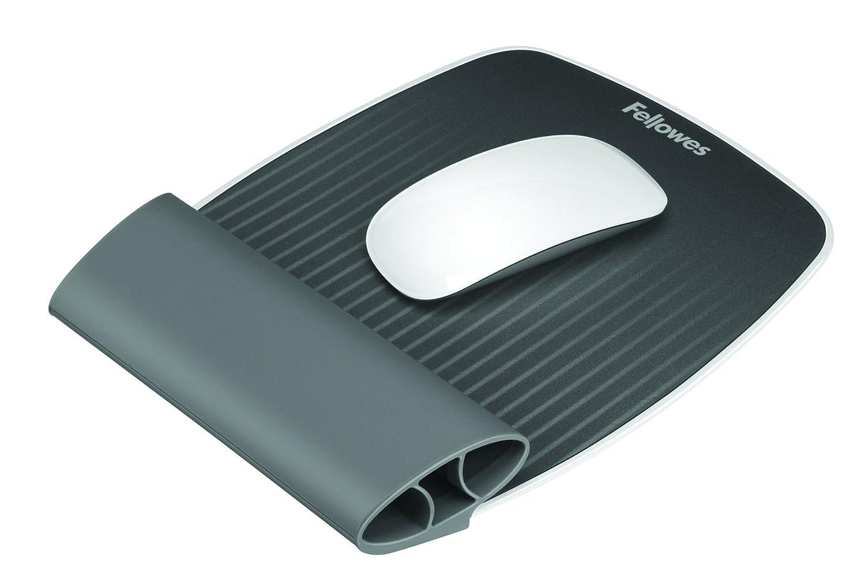 Fellowes 9311802 Tapettino per Mouse con Poggiapolsi Oscillante Wrist Rocker I-SPIRE Series, Grigio Tappetinimouseepoggiapolsi