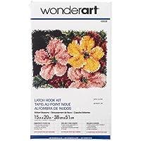 "WonderArt Brilliant Blossoms Latch Hook Kit, 15"" X 20"""