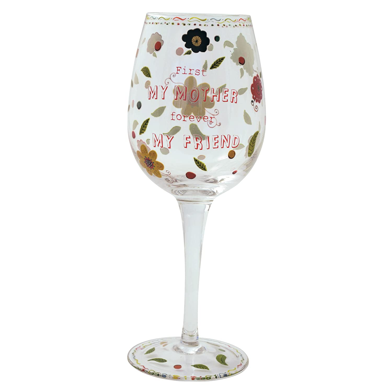 Haight Ashbury 127137 Mother Wine Glass Enesco