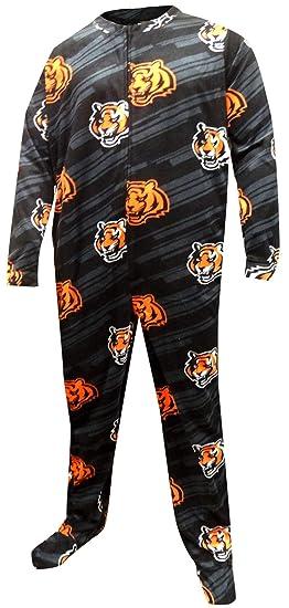 Concepts Sport Men's Cincinnati Bengals One Piece Footie Pajama