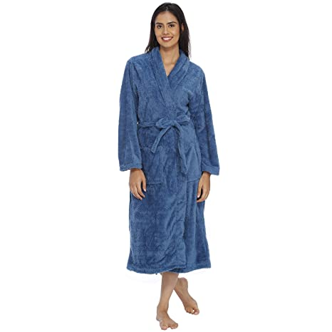 Image Unavailable. Image not available for. Colour  VIXENWRAP Persian Blue  Fleece Bathrobe ... 53675ad0c