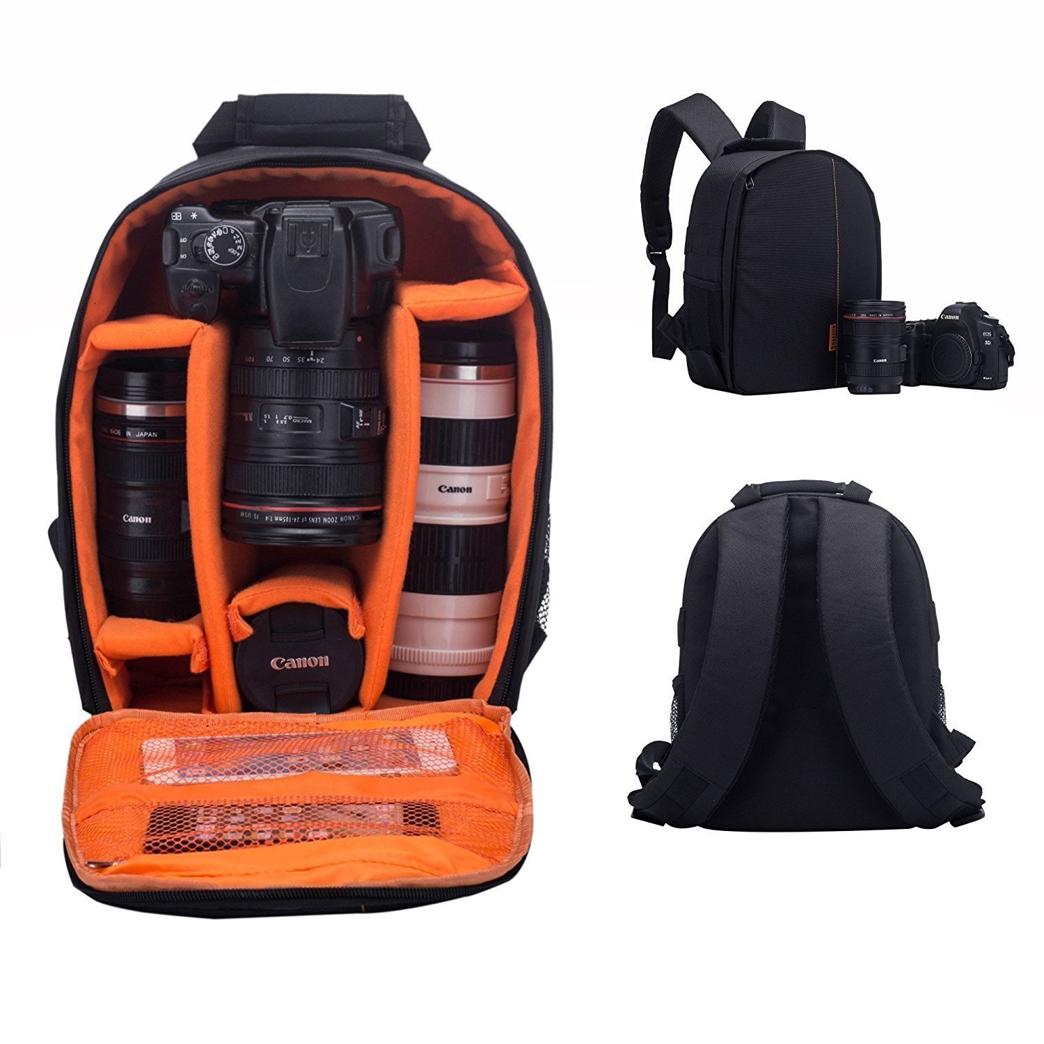 Camera Shockproof Backpack DSLR Hiking Camera Bag Waterproof for Canon, Nikon, Sony, Olympus, Samsung, Panasonic, Pentax Cameras and Other Accessories
