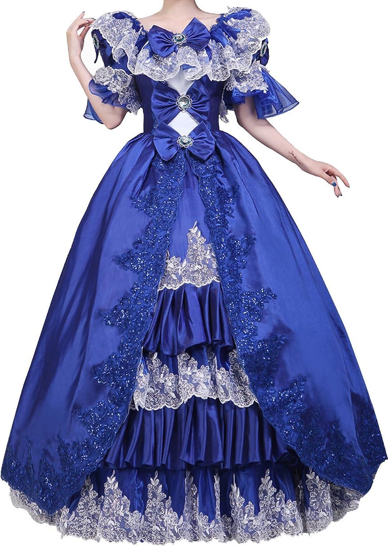 Nuoqi Damen Viktorianisch Kleid Palace Mittelalterliche Kleider ...