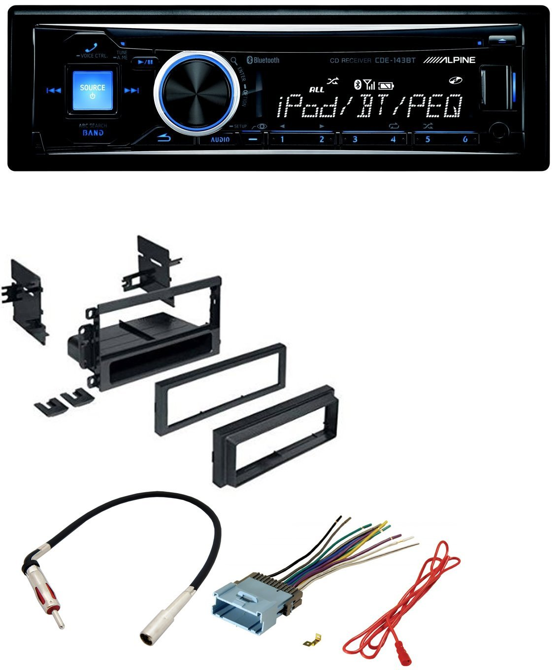 Car Radio Stereo Dash Kit Harness Antenna For Gm Gmc Wiring Workstations Chevy Cadillac Pontiac With Alpine Cd Mp3 Front Usb Aux Inputs Bluetooth