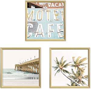 Sheffield Home Decor Collection- 3 Piece Picture Frame Set, Gallery Set, 18x18 in (Gold)
