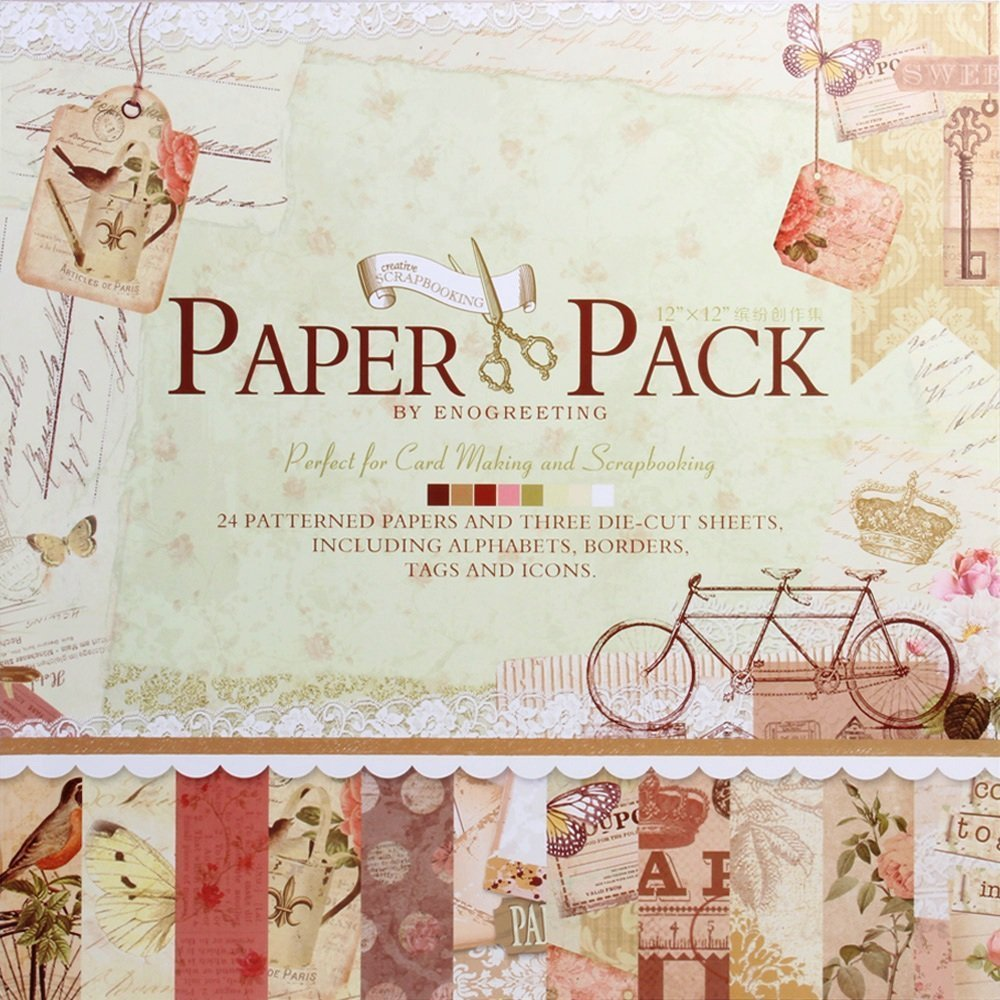 Amazon Card Making Part - 29: Eno Greeting 12 X12 Inch Decorative Card Making Scrapbooking Paper Pack:  Amazon.in: Office Products