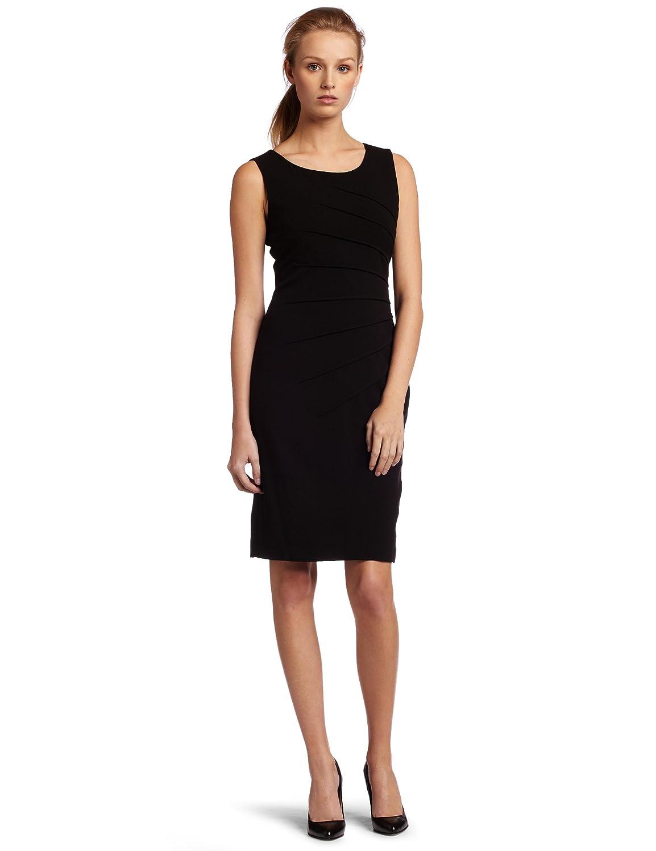 56b79a4e45a3f Calvin Klein Women s Sleeveless Ponte Dress at Amazon Women s Clothing  store