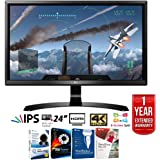 "LG 24UD58-B 24"" 16:9 4K UHD (3840 x 2160) FreeSync IPS Monitor + Elite Suite 17 Standard Software Bundle (Corel WordPerfect, Winzip, PDF Fusion,X9) + 1 Year Extended Warranty"