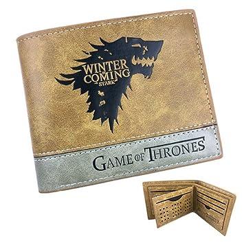 Cartera Billetera de Game of Thrones Casa Stark Marrón Piel: Amazon.es: Equipaje