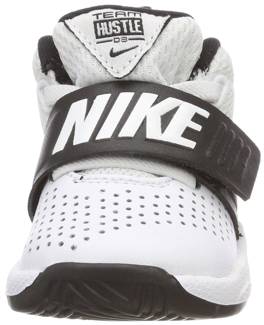 Nike White Team Hustle D Toddler Shoe AQ9976