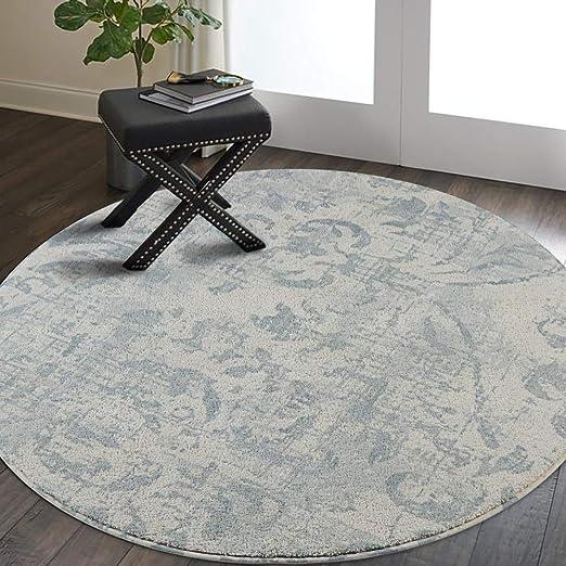 de piel sint/ética tama/ño peque/ño gris natural antideslizante base de algod/ón alfombra para sala de estar alfombra de ba/ño Alfombra de suelo ovalada lisa