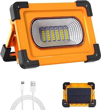100W 2000LM USB Solar LED Arbeitsleuchte Hand Werkstattlampe Camping Flutlicht