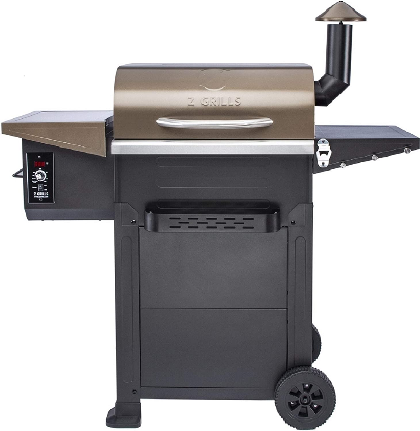 Z GRILLS ZPG-6002B 2020 New Model Wood Pellet Grill & Smoker 6 in 1 BBQ Grill Auto Temperature Control, 573, 601 sq in Copper