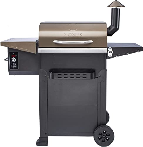 Z Grills ZPG-6002B 2020 New Model Wood Pellet Grill Smoker 6 in 1 BBQ Grill Auto Temperature Control, 573 sq in Bronze