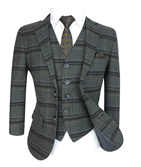 687f8d172 Boys Tailored Fit English Check Suits: Amazon.co.uk: Clothing