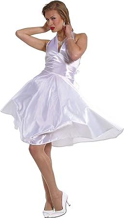 Cesar E865-002 - Disfraz de Marilyn Monroe en vestido blanco ...