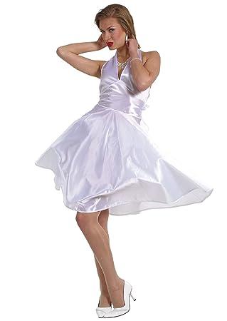 Cesar E865 002 Disfraz De Marilyn Monroe En Vestido Blanco Talla 42 44