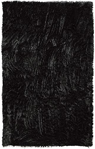 Home Decorators Collection Faux Sheepskin Area Rug, 2 X3 , Black