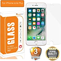 OpenTech® Tempered Glass Screen Protector for Apple iPhone 6 Plus / 6s Plus with Installation kit (2.5 D and Full Transparent)