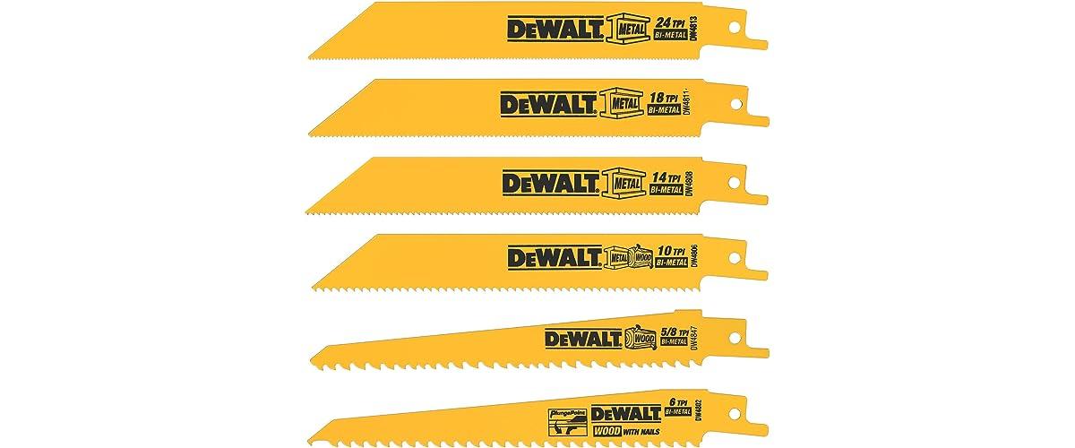 DEWALT DW4856 Reciprocating Saw Blades
