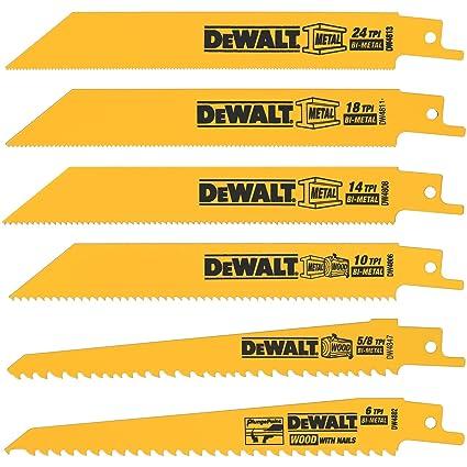 Dewalt dw4856 metalwoodcutting reciprocating saw blade set 6 piece dewalt dw4856 metalwoodcutting reciprocating saw blade set 6 piece greentooth Gallery