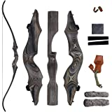 """SinoArt 58"""" Takedown Recurve Bow Bamboo Limbs Archery Right and Left Handed Riser Bow for Hunting Target Shooting 30…"""