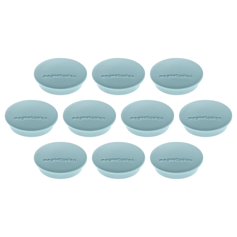 10 Soportes de im/án 34 mm color gris Magnetoplan Junior