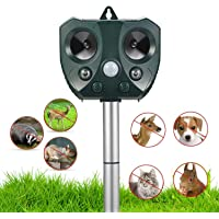 Ultrasonic Animal Repellent Outdoor,Solar Powered Waterproof Animal Repeller with Motion Sensor, Effectively Scares…