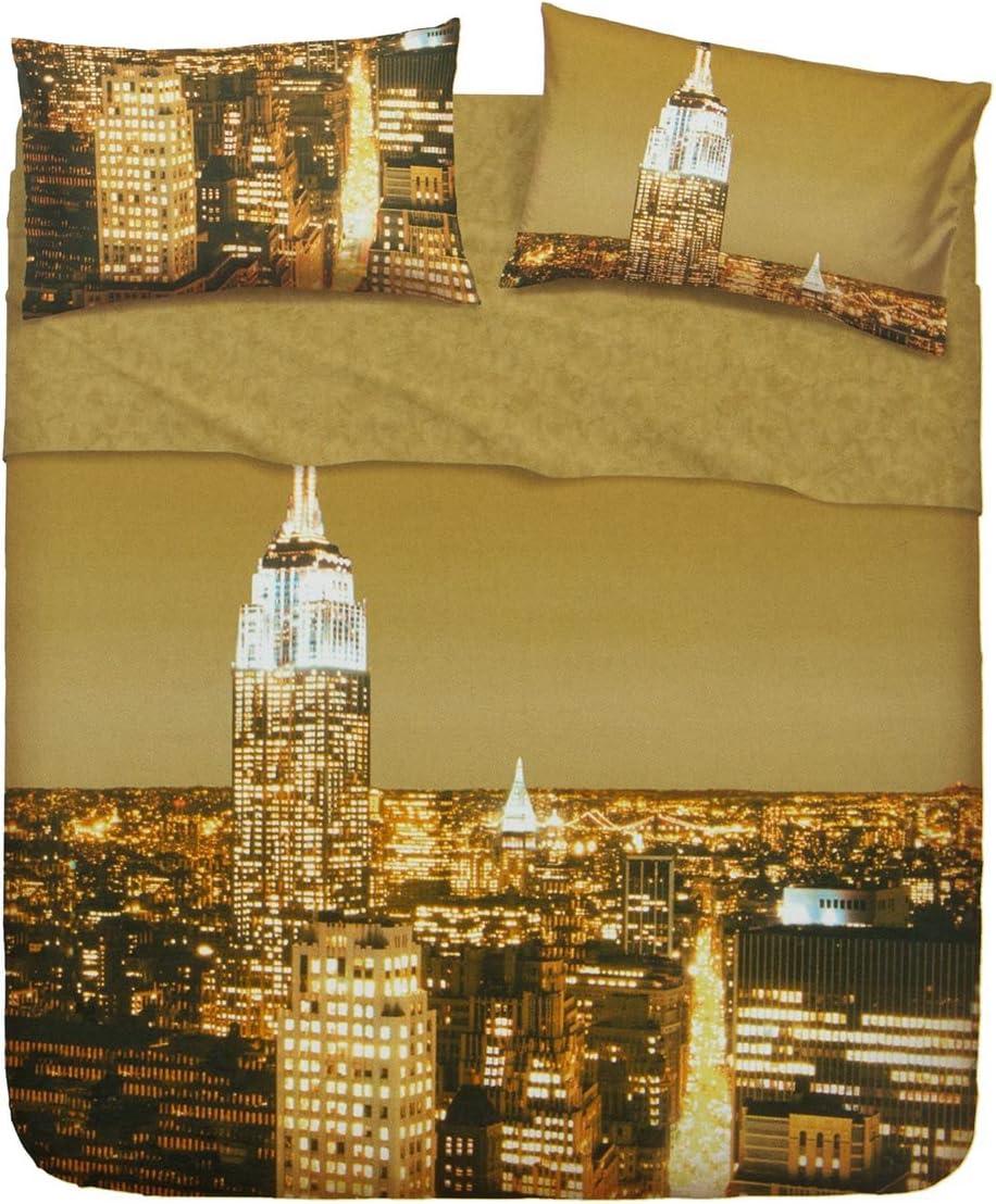 Lenzuola Matrimoniali Bassetti New York.Bassetti Completo Lenzuola New York Dimensioni Varie R695 Singolo Amazon It Casa E Cucina