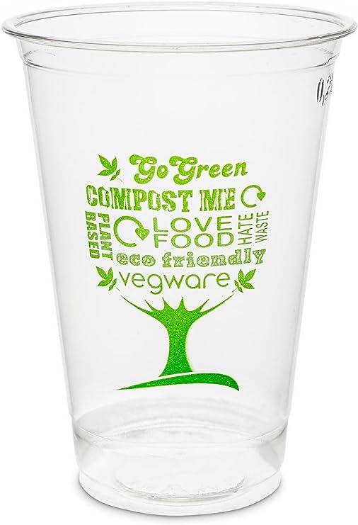 Plantvibes® 50 Vasos Desechables para Bebidas frías, Vaso 100 ...