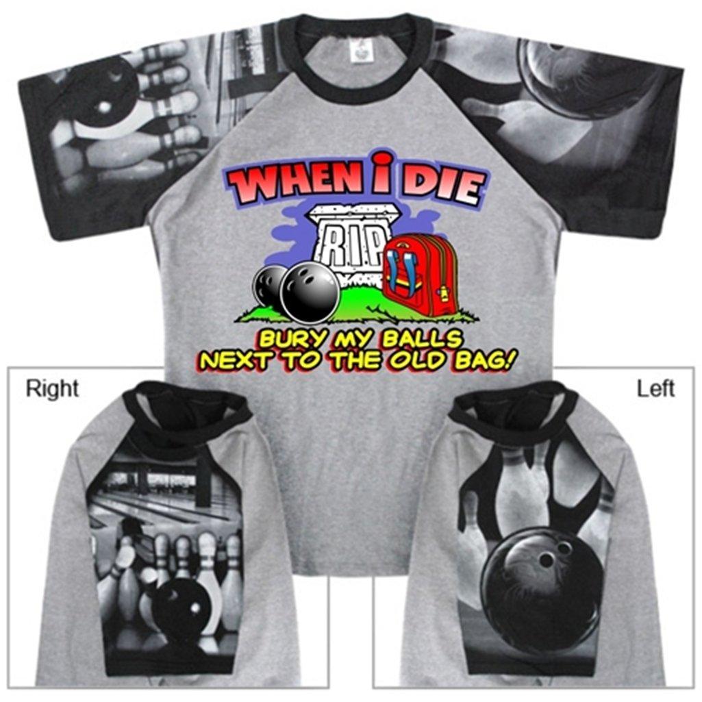 【1着でも送料無料】 When Die I Die Bowling When Tシャツwith B00CD7MSZI Bowlingスリーブデザイン XXX-Large グレー/ブラック B00CD7MSZI, クワナシ:1f6b3997 --- eastcoastaudiovisual.com