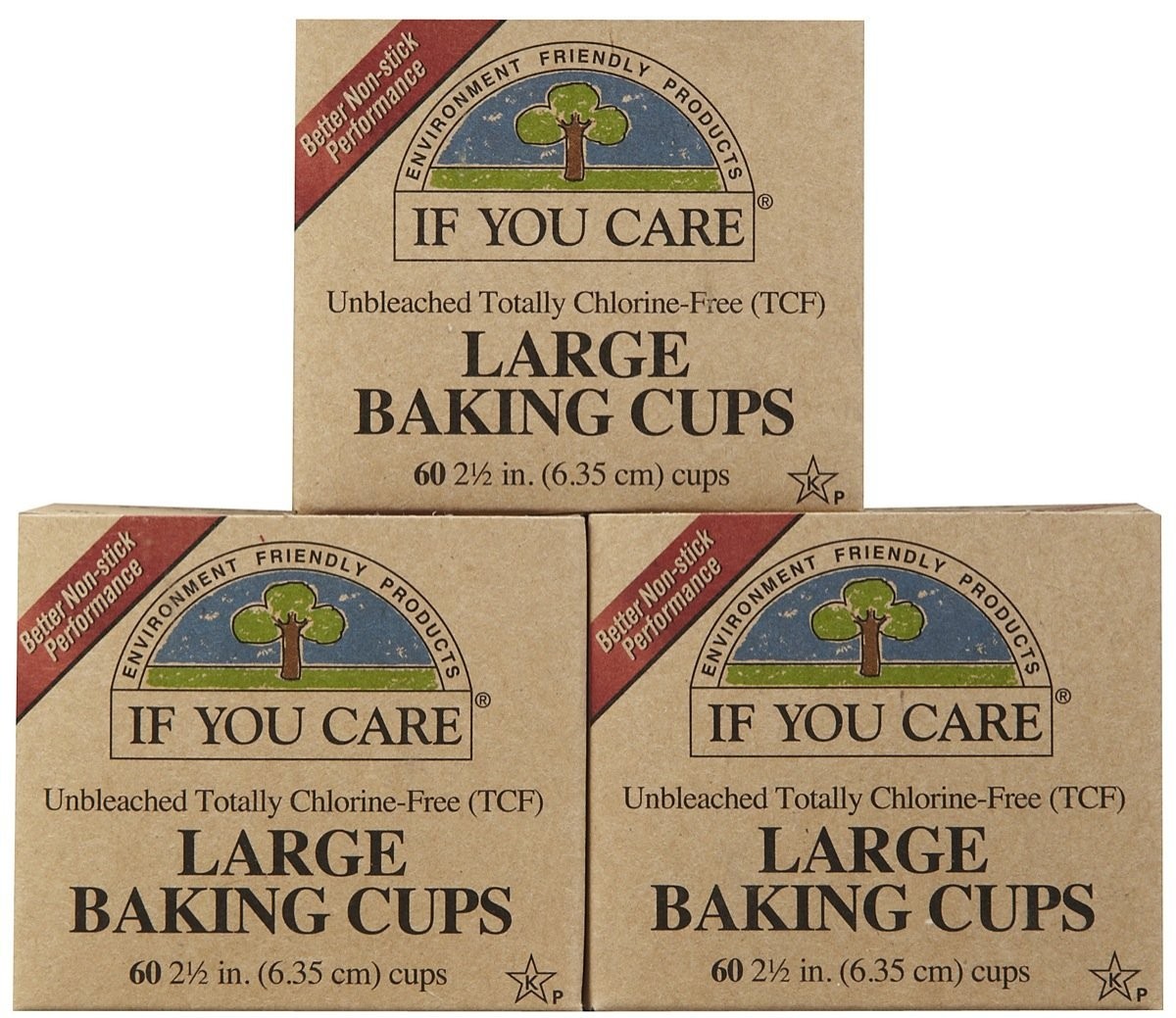 If You Care Unbleached Large Baking Cups, 60 ct, 3 pk Alere