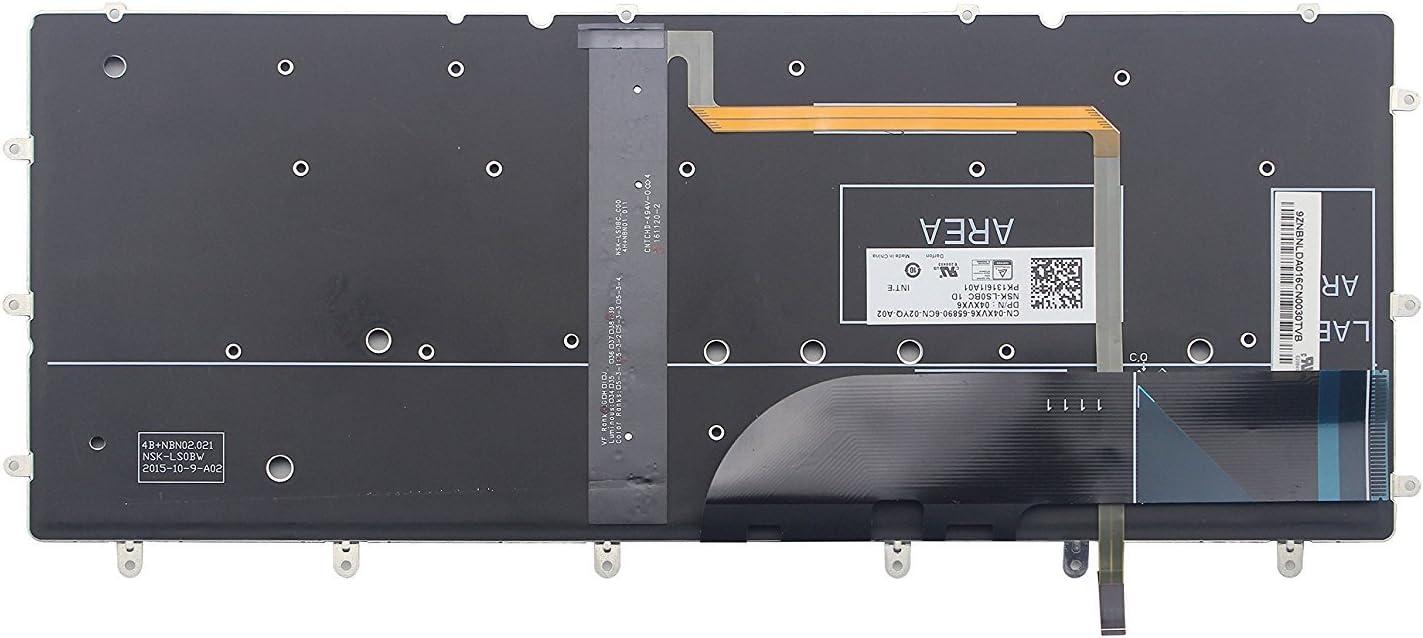 Original New for Dell 0DKDXH DKDXH NSK-LS0BW 01 04XVX6 US Black Backlit Keyboard