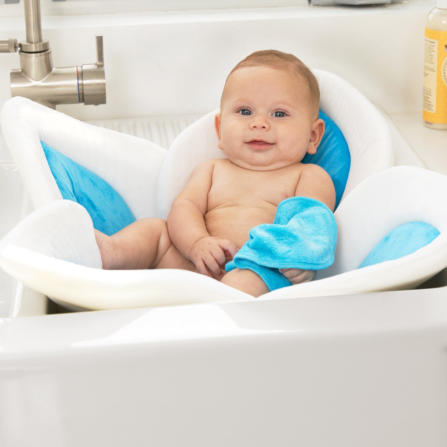 Blooming Bath Baby Bath (Gray/Light Yellow)
