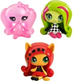Monster High Minis Getting Ghostly Draculaura, a Circus Ghouls Venus McFlytrap and an Original Ghouls Toralei Figures, 3 Pack