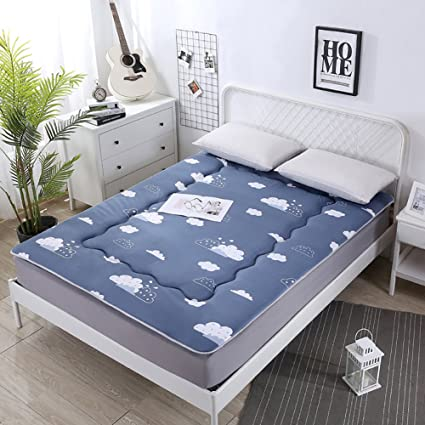 Amazoncom Dulplay Foldable Mattress Toppernon Slip Tatami Bed