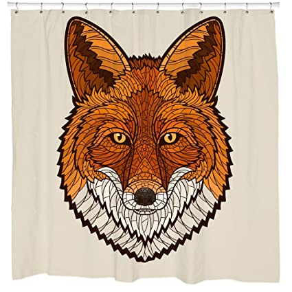 Sharp Shirter Geometric Shapes Fox Shower Curtain Threadless Boho Chic Bathroom Decor