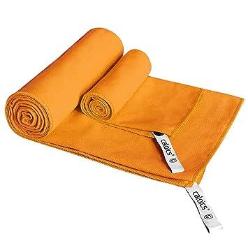 Toalla de microfibra para viajar y deportes, ligera caloics® Super absorbente toalla de secado