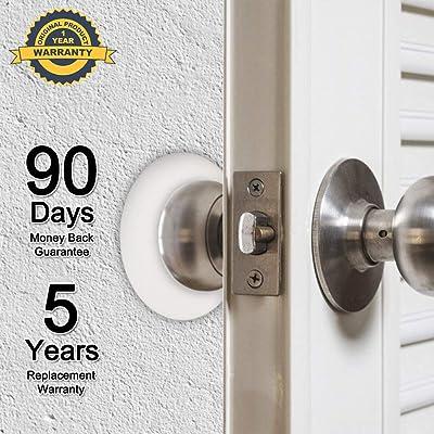 Door Stopper Wall Protector 3.15 Larger Round Silicone Door Handle Bumper,Door Knob Guard Silicon 3m Self Adhesive