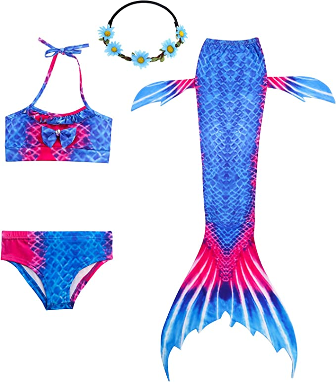 Kinder Mädchen Schwanzflosse Meerjungfrau Kostüm Mädchen Sommer Badeanzug Bikini