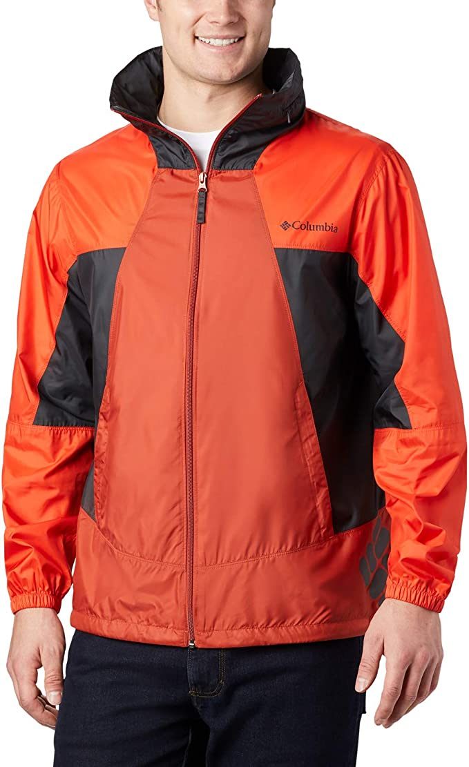 Columbia Mens Point Park Windbreaker Hooded Water Repellent Sun Protection