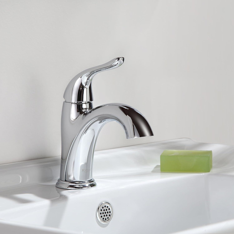 Kraus FUS-1011CH Arcus Single Lever Basin Bathroom Faucet Chrome ...