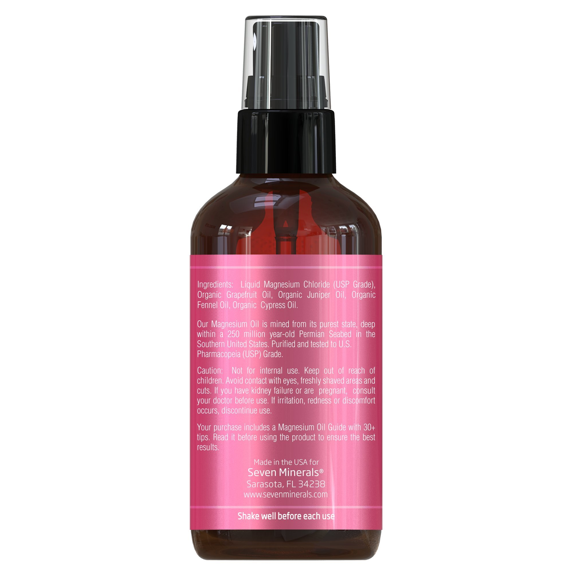 Cellulite Magnesium Spray Treatment | Made In USA - 100% Natural Essential Oils Blend | Organic Grapefruit, Juniper, Cypress & Fennel Oils | Eliminate & Remove Cellulite From Butt & Thighs by Seven Minerals (Image #5)