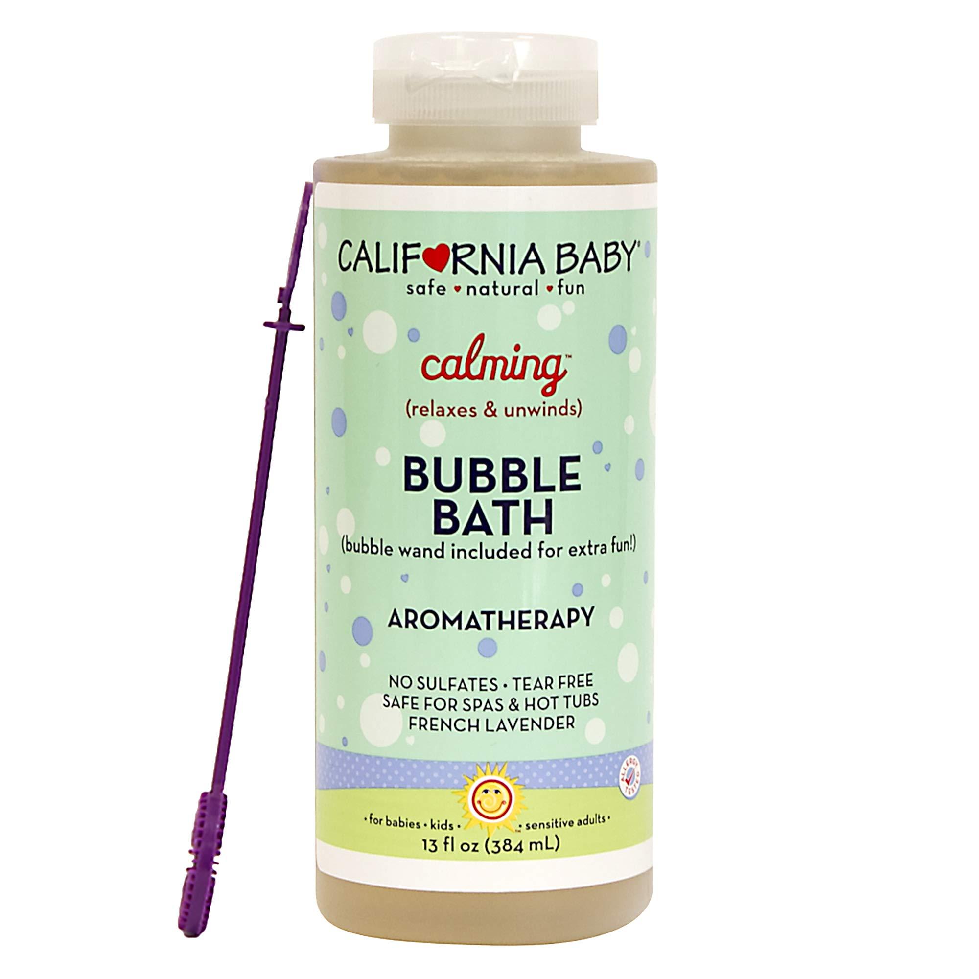 California Baby Calming Bubble Bath, No Tear, Pure Essential Oils for Bathing, Hot Tubs, or Spa Use, Moisturizing Organic Aloe Vera and Calendula Extract (13 fl. ounces) by California Baby