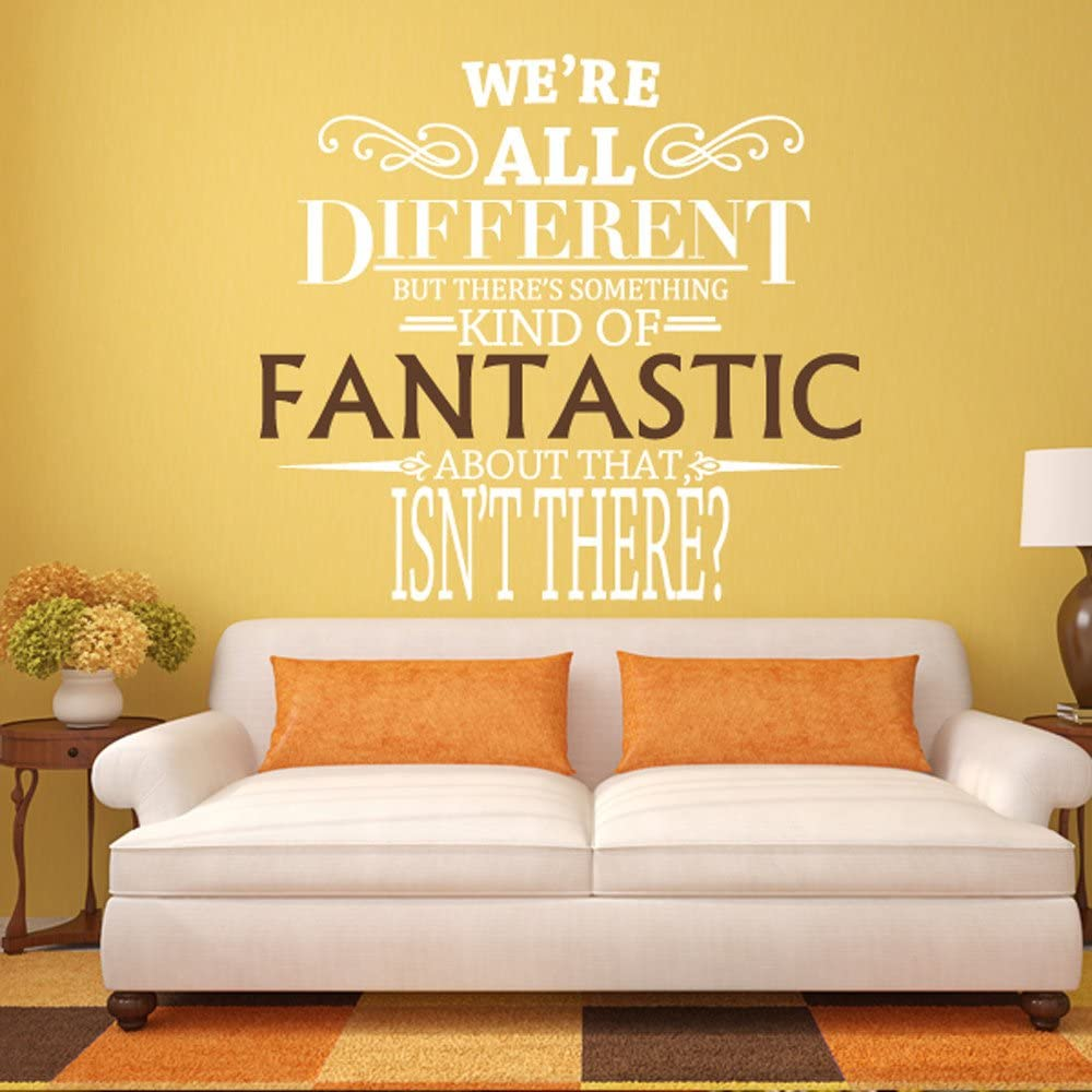 We Re All Different Fantastic Mr Fox Wall Decal Quote Vinyl Word Art Large Fantastic Brown Letters White Amazon Ca Home Kitchen
