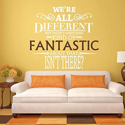 Amazon.com: We\'re All Different - Fantastic Mr. Fox Wall Decal Quote ...