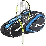 Babolat 2016-2018 Pure Aero Lite Tennis Racquet - Strung with 6 Racquet Bag - Choice of Bag Color