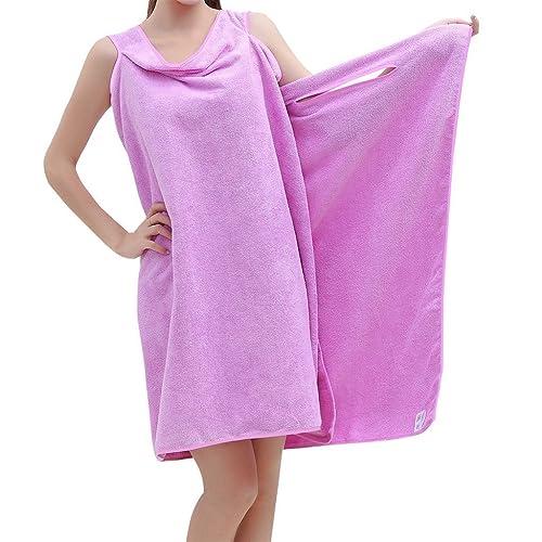 Velcro Shower Towel Wrap: Ladies Towelling Sarong / Bath Towel Wrap, CREAM Colour