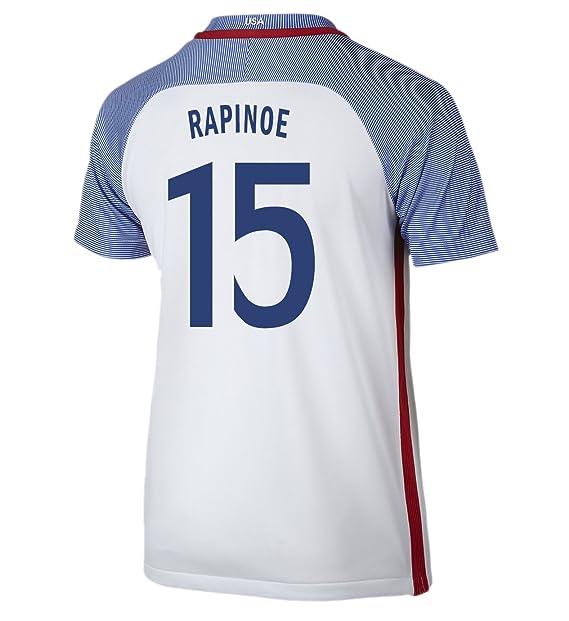 Amazon.com: Nike Rapinoe #15 USA Home - Camiseta de fútbol ...